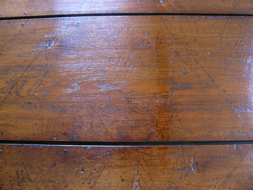 Restoring a scorched oak table top