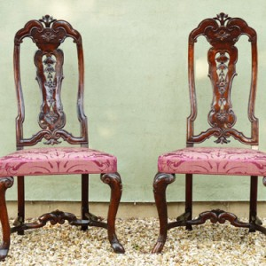 Restored walnut chairs