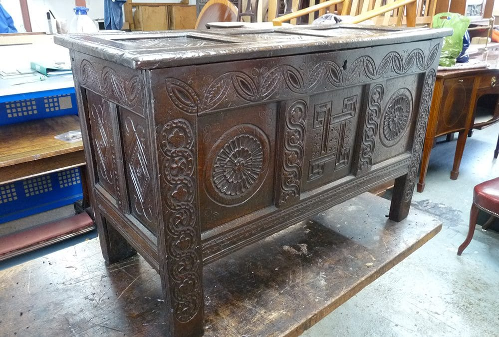 Early 18th Century Oak Coffer