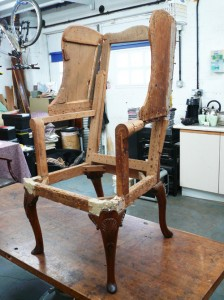Early 18th century wing chair-1