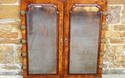 Restored 18th century walnut doors