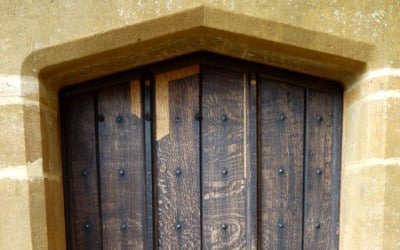 Conservation of an Arts and Crafts oak door