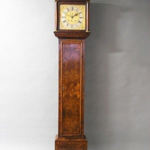 Knibb walnut longcase clock