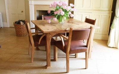 Scottish elm kitchen table and chairs